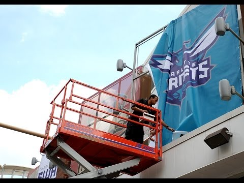 Hornets signage begins to appear at Time Warner Cable Arena