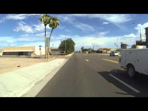 AZ SR 85 South through Gila Bend, Arizona to DHS Checkpoint, 17 October 2015, GP060013