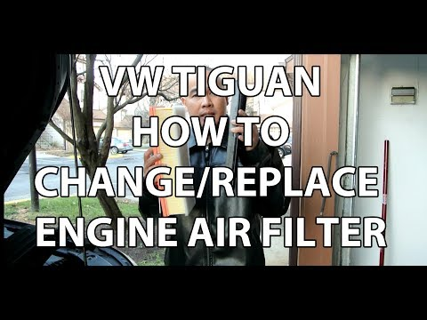 VW/Volkswagen Tiguan 2.0T How to Replace & Install Engine Air Filter Easy Instructions