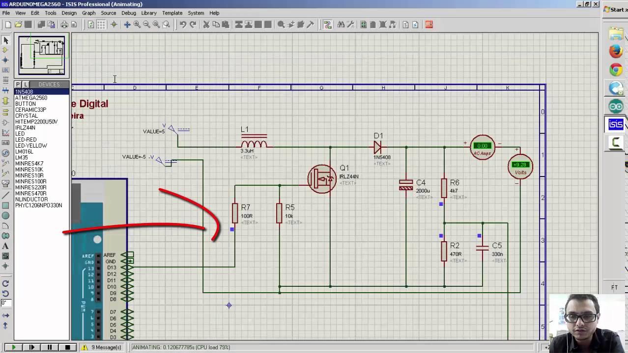 Circuito Boost : Simulação dc dc boost arduino proteus youtube