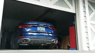 2018 S5 Sportback - AWE Touring Exhaust, cold start