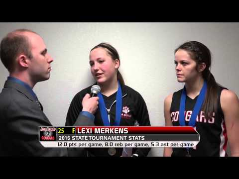 2015 state tournament: AdaBorup's Miki Lee and Lexi Merkens