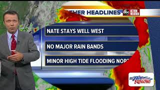Tropical Storm Nate Forecast with Greg Dee on Friday, October 6, 2017 (5AM)