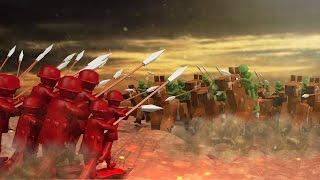 Minecraft | RED VS GREEN ARMY SOLDIER SIEGE!