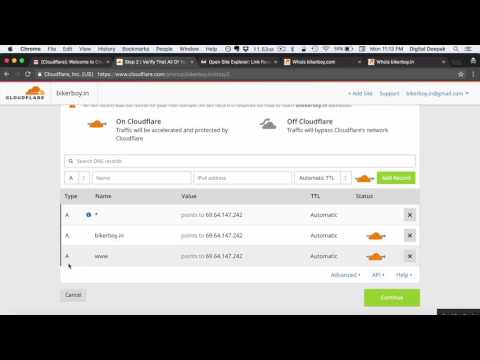 How to Setup Cloudflare DNS for your Domain Name Mp3