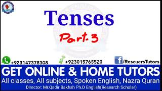 Tenses are easy. Part-3