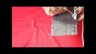 HAND EMBROIDERY:How to end a chain stitch in aari embroidery.