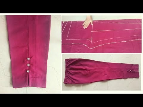 Ladies Pant | Straight Pant | Capri Pant | Ladies Trouser | Cutting and Stitching Easy Tutorial
