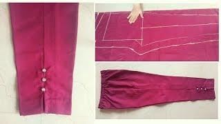 Ladies Pant | Straight Pant | Capri Pant | Ladies Trouser | Cutting and Stitching Easy Tutorial
