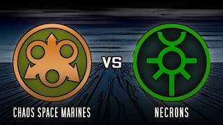 Warhammer 40k Battle Report #9: Necrons vs Chaos Space Marines (1500 points)