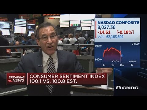 Consumer sentiment index at 100.1 in September