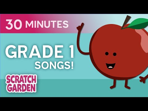 Educational Video for Kids | Learning Song Collection for Grade 1 by Scratch Garden