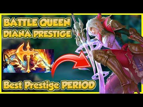 👑 PRESTIGE BATTLE QUEEN DIANA CALLS YOU POOR (Best prestige skin in the game IMO) | Erick Dota