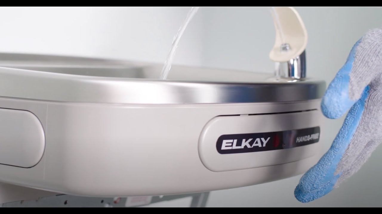 Hands-free Retrofit for Elkay Refrigerated Push-bar Coolers