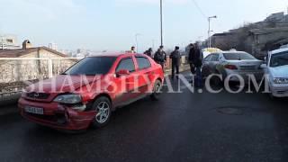 Շղթայական ավտովթար Երևանում  բախվել են Opel, Toyota, Volkswagen, BMW, Nissan մակնիշի ավտոմեքենաները