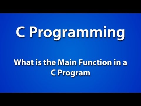 C Programming | What is the Main Function in a C Program