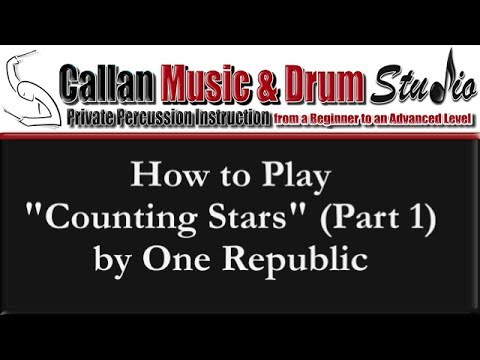 "Drum drum chords for counting stars : How to Play ""Counting Stars"" by One Republic Part 1 (Video by Thom ..."