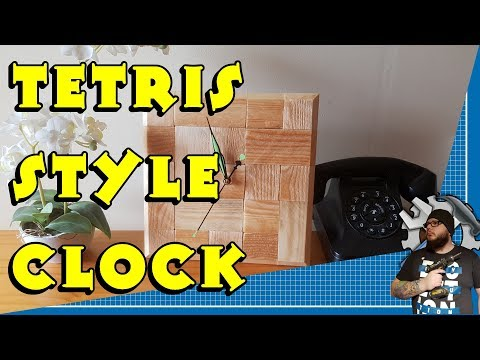 Tetris Style Clock made from pallet wood