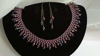 Necklace and earrings. DIY. Колье и серьги. МК