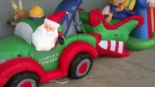 Funny Toyreviews Christmas Funny Animated Inflatables From Lowes Christmas 2011