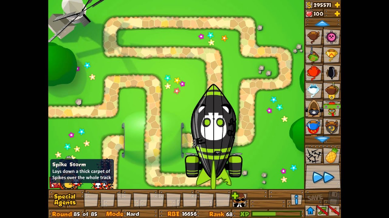 Spike factories vs 1 zomg hard difficulty bloons tower