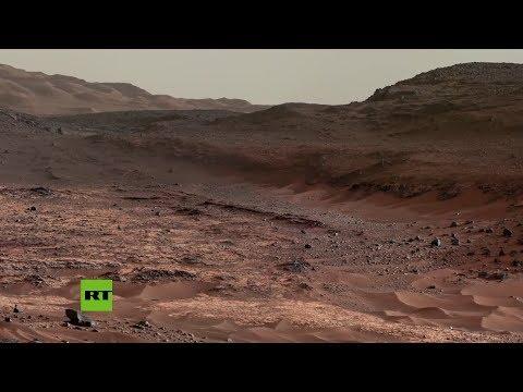 Muestran imágenes únicas del cráter marciano Gale, enviadas por el róver Curiosity