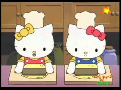 Hello Kitty fait de la patisserie