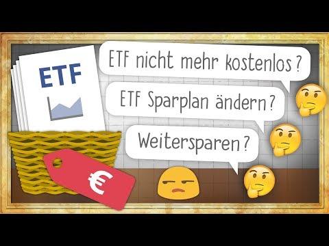 """""""Kostenloser"""" ETF Sparplan nicht mehr kostenlos: Was tun?"""