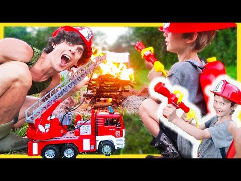 Fire Trucks | Fireman Axel Puts Out Real FIRE!!🔥