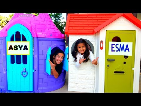 My Home Esma and Asya pretend play fun video