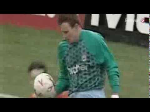 CONTROVERSIAL GOAL: Gary Crosby v Man City