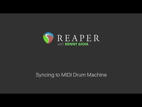 Syncing a MIDI Drum Machine to REAPER (Midi Time Code)