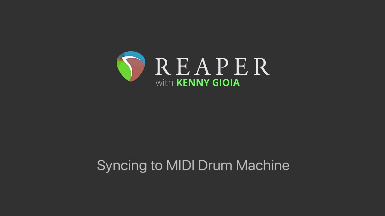 syncing a midi drum machine to reaper midi time code youtube. Black Bedroom Furniture Sets. Home Design Ideas