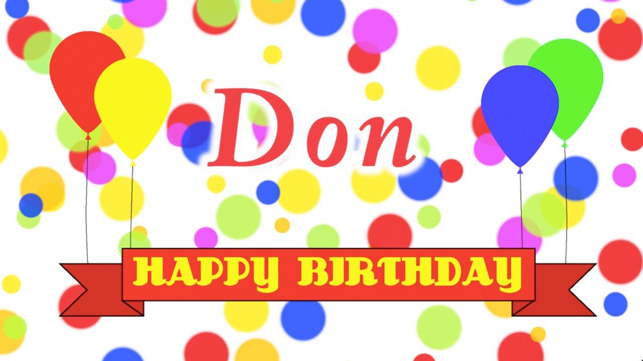 Happy Birthday Don Song