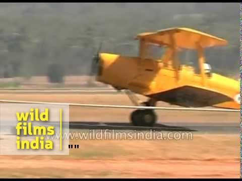Indian Air Force Light Combat Helicopter and Vintage Tiger Moth