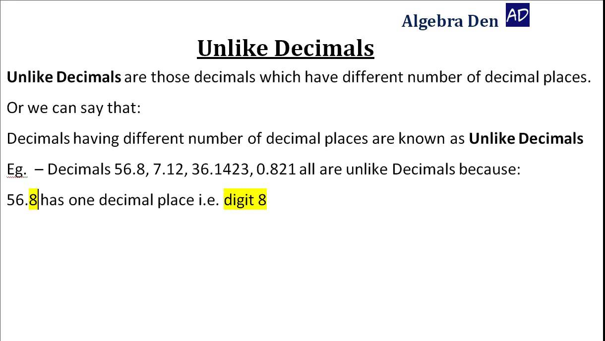 Worksheets Decimal Definition With Example scientific notation definition a method of expressing numbers in 2 how