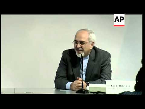 The European Union's top diplomat and Iran's foreign minister say nuclear talks between six world po