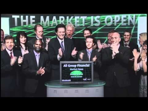 All Group Financial Services Inc. opens Toronto Stock Exchange, May 25, 2012.