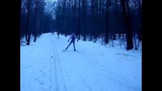 ПАДЕНИЕ:)на лыжах