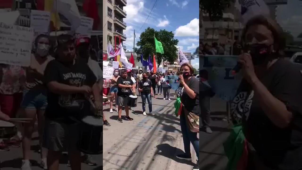 Manifestación frente a la Fiscalía por amenazas y hostigamientos sufridos por Mariela Unayche