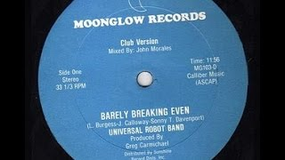 "UNIVERSAL ROBOT BAND.""Barely Breaking Even"". 1982. 12"" Mix."