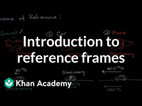 Introduction to frames of reference