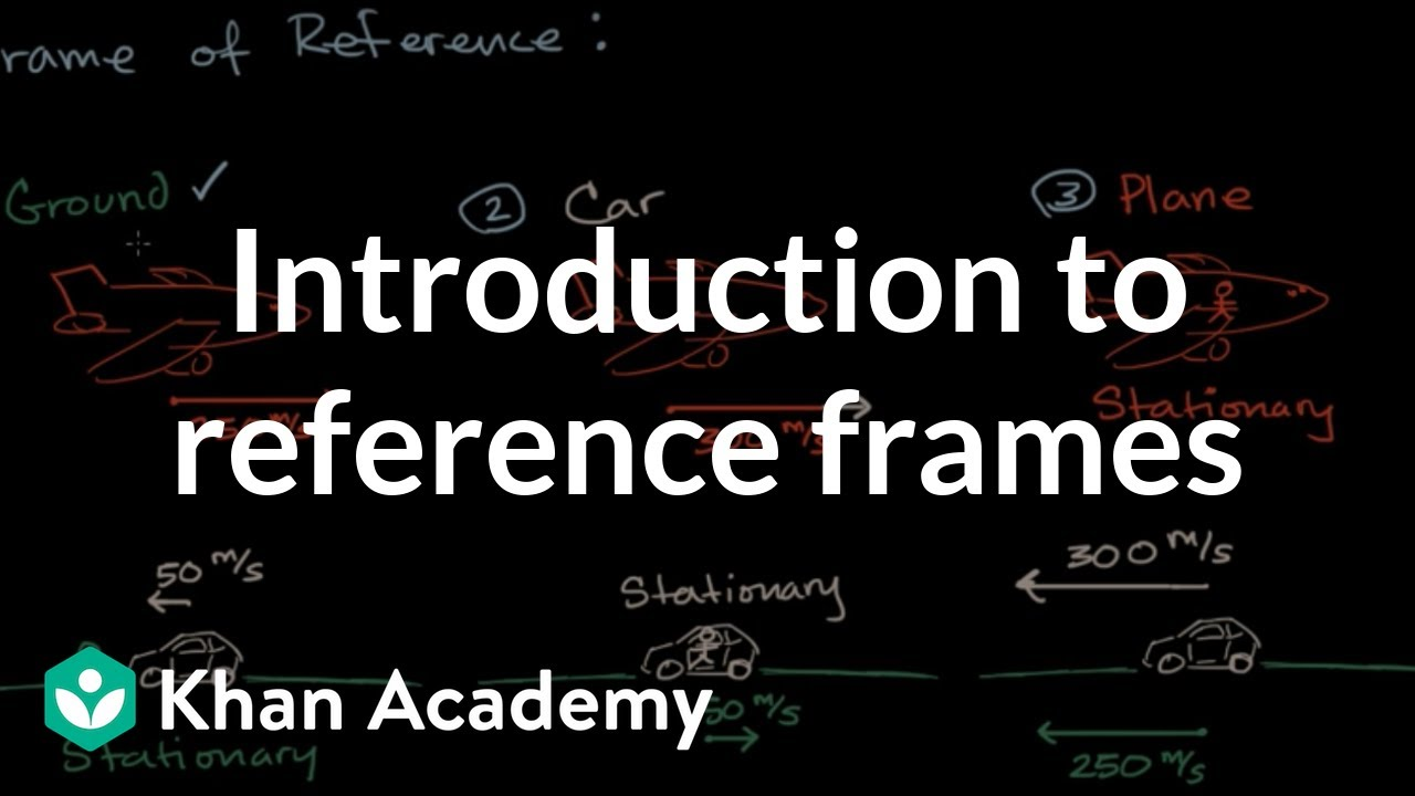 Introduction to reference frames (video) | Khan Academy