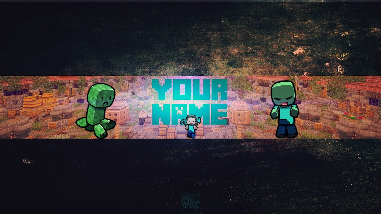 FREE Minecraft Hunger Games Banner Template