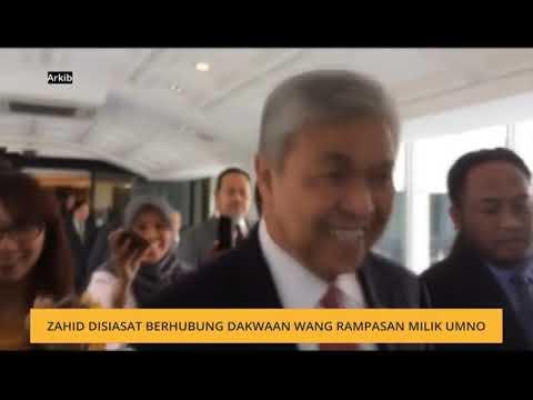 Zahid disiasat berhubung dakwaan wang rampasan milik UMNO