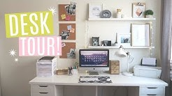 DESK TOUR  | How to ORGANIZE YOUR DESK (Storage + Decor)