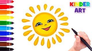 как нарисовать солнце. Учимся рисовать солнце How to draw sun