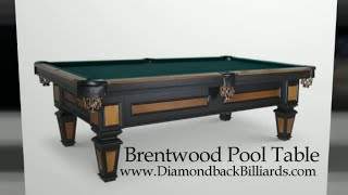 Brentwood Pool Table By Olhausen Billiards Call 480-792-1115