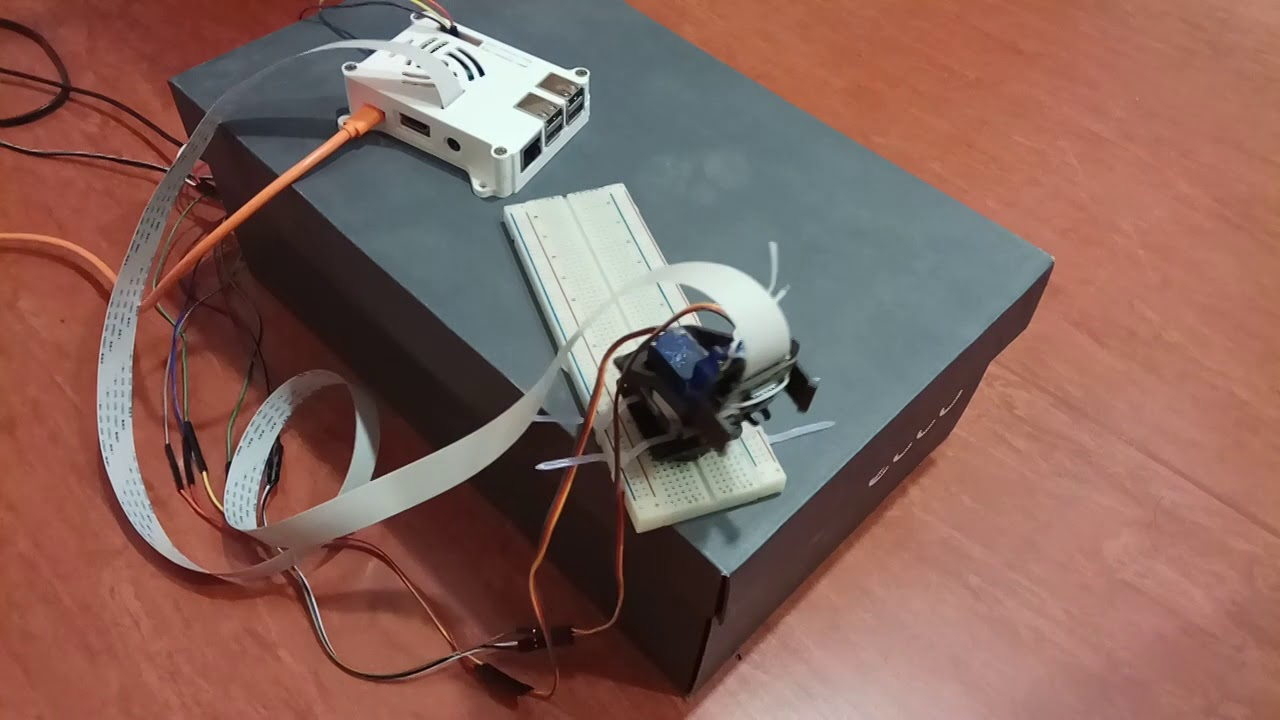 Pan Tilt Camera for Raspberry Pi with STM32 and UV4L