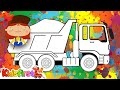 Colors for kids with Doctor McWheelie. Dump truck.